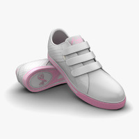 Shoe White Light Pink